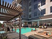 An image of what the pool will look like at the new 71 France apartments in Edina.