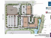 The redevelopment plan for the Byerly's site. Construction begins Wednesday on the first of three apartment buildings.