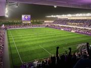 Here's another view of the new stadium in downtown Orlando.