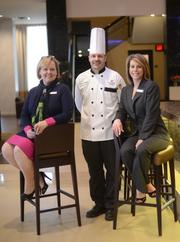 The hotel's management (L to R): General Manager Katie Neufeld, Executive Chef Don Fleming, Director of Sales and Marketing Jenny Stimler.