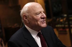 Barry Diller, chairman of IAC/InterActiveCorp., speaks during a Bloomberg Television interview at the annual Milken Institute Global Conference in Los Angeles.