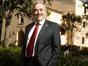 Craig McAllaster, the former dean of the Rollins College Crummer Graduate School of Business, has been appointed interim president of Rollins College.