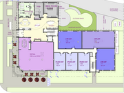 First-floor plans include retail space, as well as a bike room and fitness center for residents.