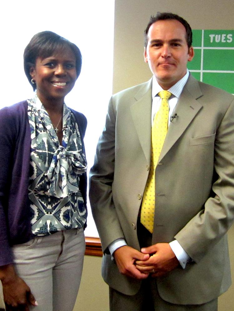 """Deborah Roberts, a reporter on the ABC news magazine """"20/20"""" interviewed Mario Pecoraro of Alliance Worldwide Investigative Group in Clifton Park for a report scheduled to air Friday, June 13."""