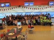 Camden employees gather for a group picture at a company bowling outing.