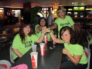 Here's a few members of Camden's Gutter Club showing some team spirit at the bowling alley.