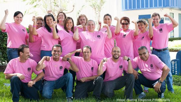 Certified Slings employees join Florida Hospital's Pink Army in the fight against breast cancer.