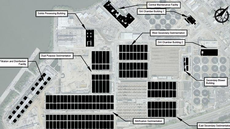 DC Water is pursuing solar arrays across the Blue Plains campus, to generate upward of 11MW of electricity, all of which it would purchase at rates lower than it currently pays Pepco.