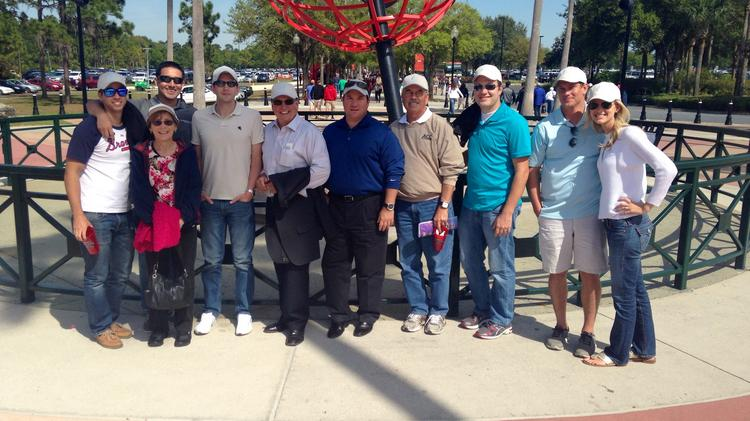 Evershore Associates in Orlando were treated to a baseball game (and matching hats) at Disney's Wide World of Sports in March 2014 in appreciation for their employee referrals during the previous year.
