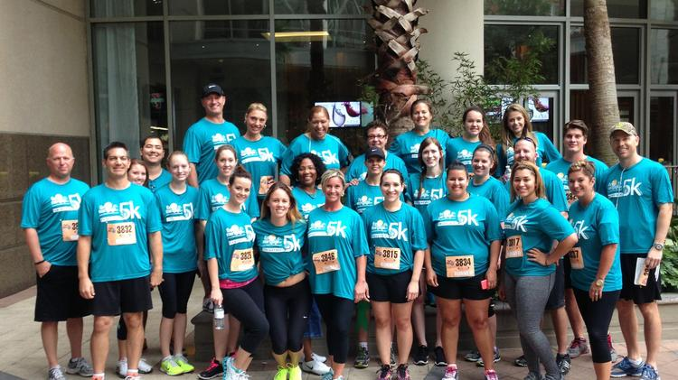 FBC Mortgage's 5k team in downtown Orlando.