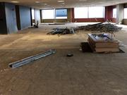 iovation Inc's office remodel is well underway and should be completed this summer. The new space will accommodate roughly 100 people and will be more open with smaller cubicles and glass offices.