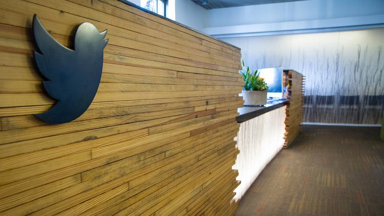 Reception desk at Twitter HQ. Twitter-owned Tweetdeck was hijacked today due to an XSS vulnerability. Photo courtesy of Twitter.
