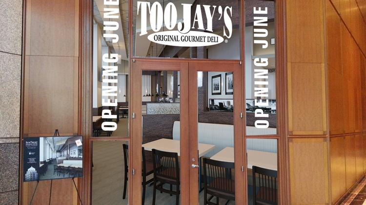 The entrance to TooJay's at SunTrust Financial Centre.