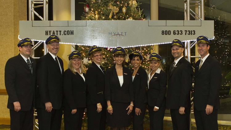 Team members of the Hyatt Regency Orlando Intentional Airport.