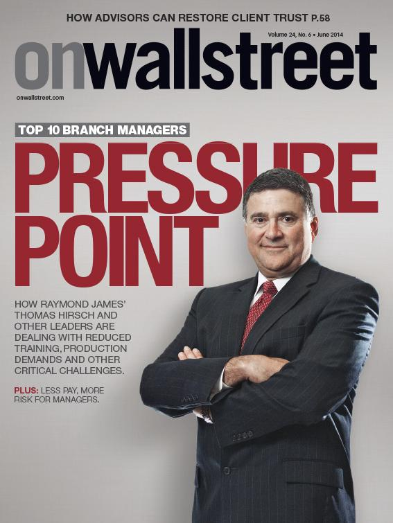 Thomas Hirsch of Raymond James & Associates' Kentucky Complex is featured on the cover of the June issue of On Wall Street magazine.