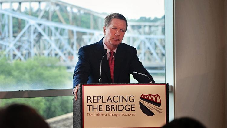 Gov. John Kasich and Ohio lawmakers sent a clear message to Kentucky legislators who have been reluctant to allow tolling to fund a new Brent Spence Bridge on Wednesday: It's time to do your part.