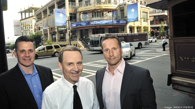 Doug Stephan and Paul Picarazzi, both of Vision Ventures, and Geoffrey Curme (center) of Mount Vernon Asset Management
