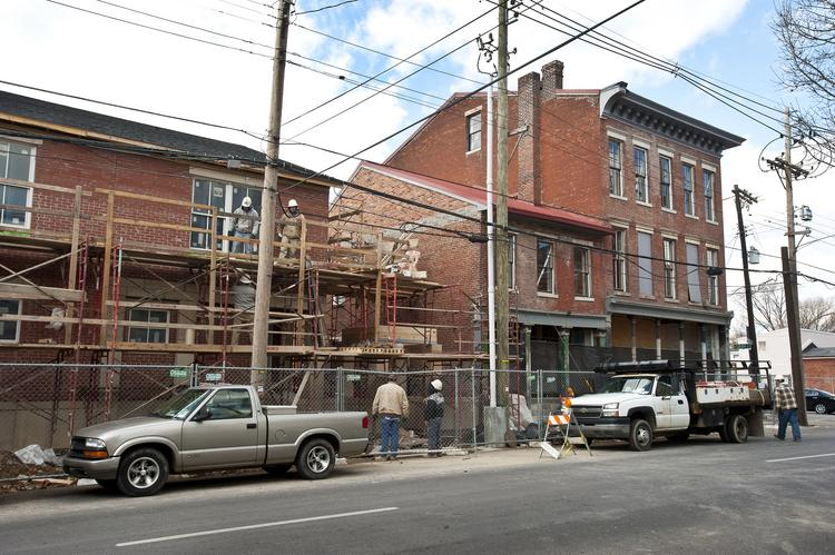 Wellspring, a local mental health provider, is in the process of rehabilitating this historic building on Shelby Street an turning it into apartments.