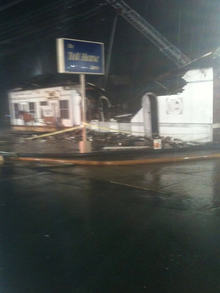 The Toll House Tavern in Delaware County has been ravaged by fire. This photo came from the bar's Facebook page.