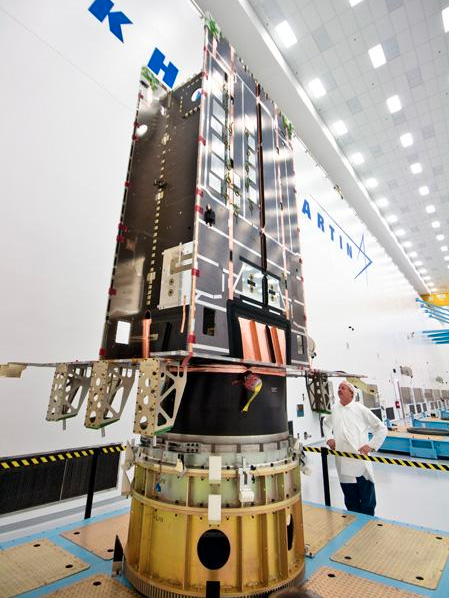 Lockheed Martin Space Systems Co. showed off a prototype GPS III satellite in 2011 at its $80 million assembly and testing facility in Jefferson County. Technical problems with the first operational satellite have delayed GPS III's debut and frustrated the U.S. Air Force.