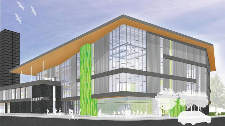 Renderings of the new Main Library show it will be a focal point of downtown Dayton.