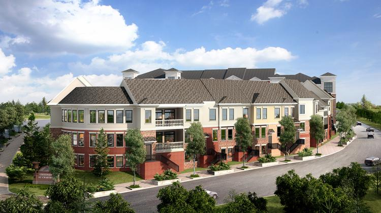An artist's rendering of the proposed 335-unit Creekside at Crabtree multifamily development on Crabtree Valley Avenue, south of Crabtree Valley Mall.