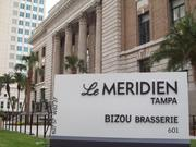 The Florida Street entrance to Le Méridien. The stairs in the background take visitors directly to the floor housing Bizou Brasserie and Longitude Bar.