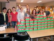 VHB's Charity Committee packing Christmas boxes