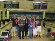Victor 12's employees on a bowling outing