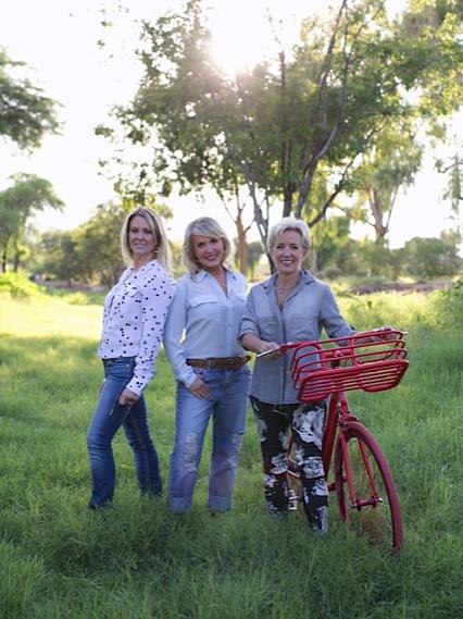 From left, Ann Siner, Jenny Siner, and Tess Loo of Eco-Chic Consignment Inc.