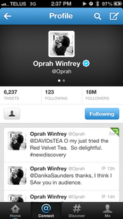 Oprah Winfrey has been tweeting to her 18 million followers about David's Teas. Guess what?  She loves them!