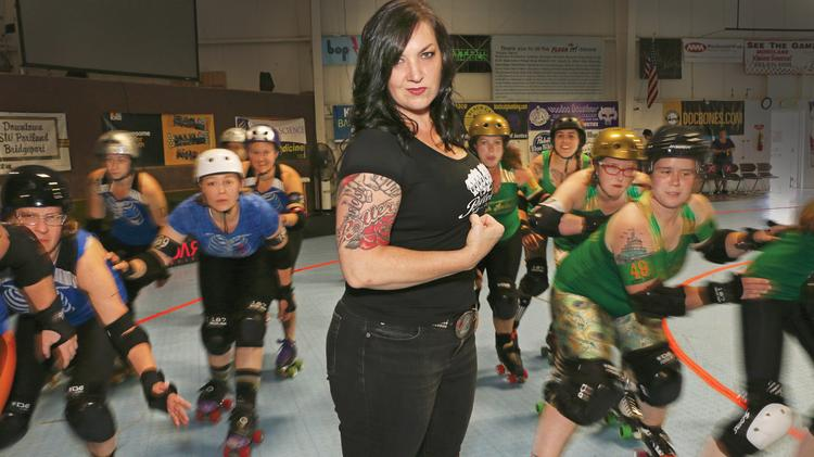 "Before she led the Rose City Rollers, Kim Stegeman worked in advertising. ""All of that stuff really transferred over to my job (with the Rollers)."" Click through to learn more about Stegeman as well as the Rollers, which finish their season this weekend."