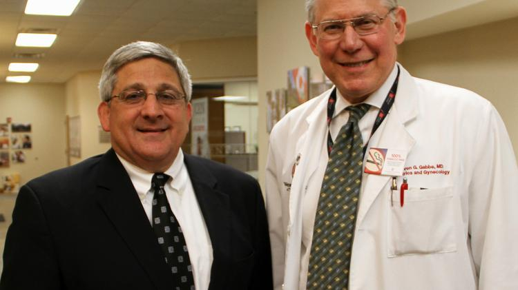 Dr. Steven Gabbe, right, has a deal with Ohio Valley CEO Mike Caruso.