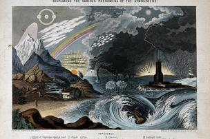 British topographical artist and folklorist John Philipps Emslie created these geographical and astronomical illustrations during the second half of the 19th century. Pictured here: a diagram illustrating atmospheric phenomena. Click through the gallery for more illustrations by Emslie.