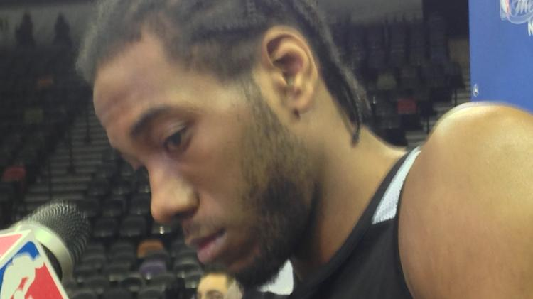 Spurs forward Kawhi Leonard understands what is at stake for the franchise.