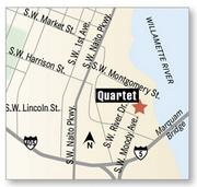 Quartet opened Valentine's Day at Riverplace.