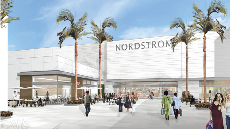 Nordstrom Inc. has provided renderings of its new store in the St. Johns Town Center.