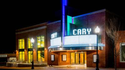 The Cary Theater building.