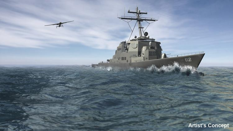 Northrop and Aurora Flight Sciences are among the companies pitching their ideas for an unmanned aerial vehicle that can launch and land from smaller Navy ships.