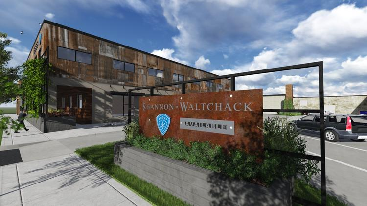 A rendering of the Stockyard @ Railroad Park project by Shannon Waltchack.