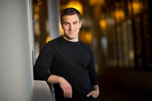 Brian Chesky, co-founder and chief executive officer of Airbnb Inc., stands for a photograph.