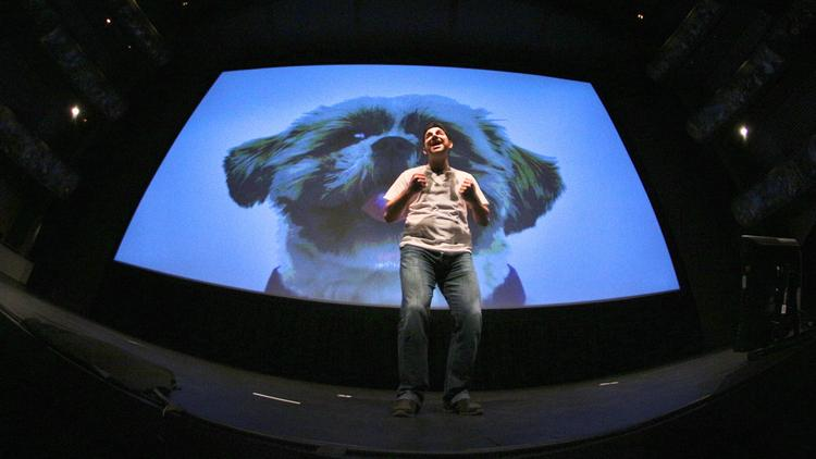 Fitbark CEO Davide Rossi presents at the Sprint Mobile Health Accelerator's Demo Day in June.