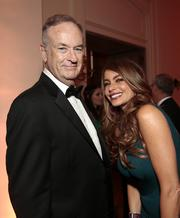 Fox News commentator Bill O'Reilly and actress Sofia Vergara attend the Bloomberg Vanity Fair White House Correspondents' Association dinner in D.C. on April 27.