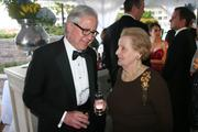 Howard Fineman, editorial director of the AOL Huffington Post Media Group, and Madeleine Albright, former U.S. secretary of state.