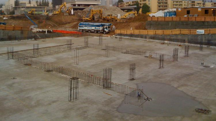 Insteel Industries makes steel reinforcing produces used in concrete construction.