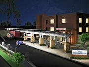 An artist rendering of the emergency entrance of Frick Hospital.