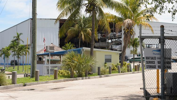 Thunderboat Marine Center at 2051 Griffin Road has been struck by foreclosure.