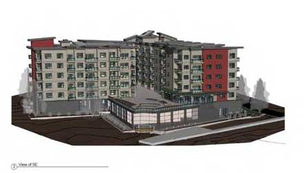 Most units at The Boathouse, an apartment complex under development in Johns Landing, will have views of the Willamette River.