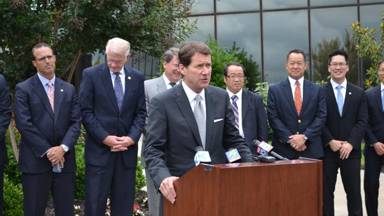 Bill Hagerty, commissioner of the Tennessee Department of Economic and Community Development, at MicroPort Orthopedics, which announced a $100 million expansion in West Tennessee last week.