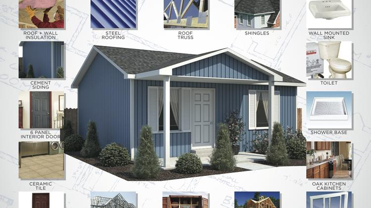 84 Lumber's 20x20 home package includes the materials to construct two houses and start under $12,000.